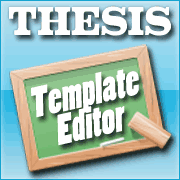 Thesis 2.0 Template Editor Tutorial