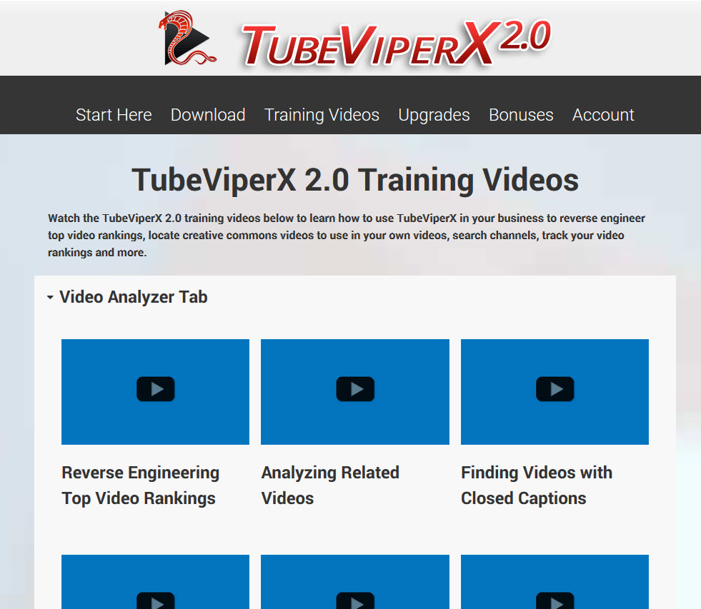 TubeViperX 2.0 Members area built with Thrive Content Builder