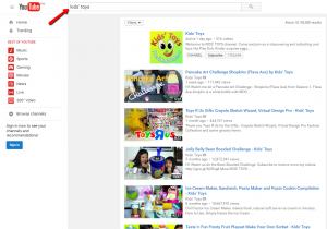YouTube Video Placement Collection Step 1